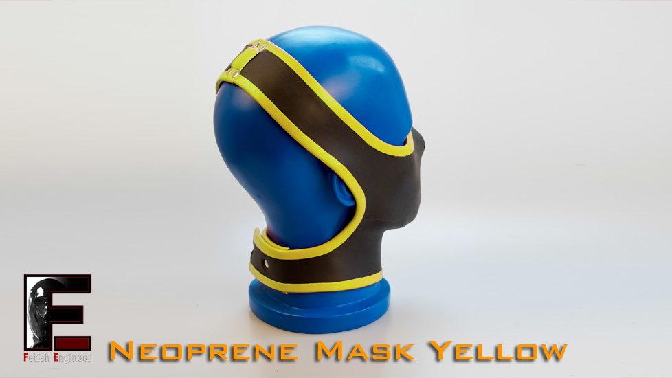 Half Face Neoprene Face Mask-Yellow
