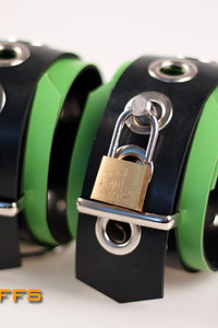 Rubber Green Wrist Cuffs
