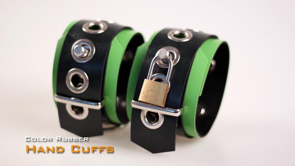 Rubber Green Wrist Cuffs