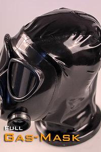 Latex Gas Mask Hood FMJ05 with Zipper