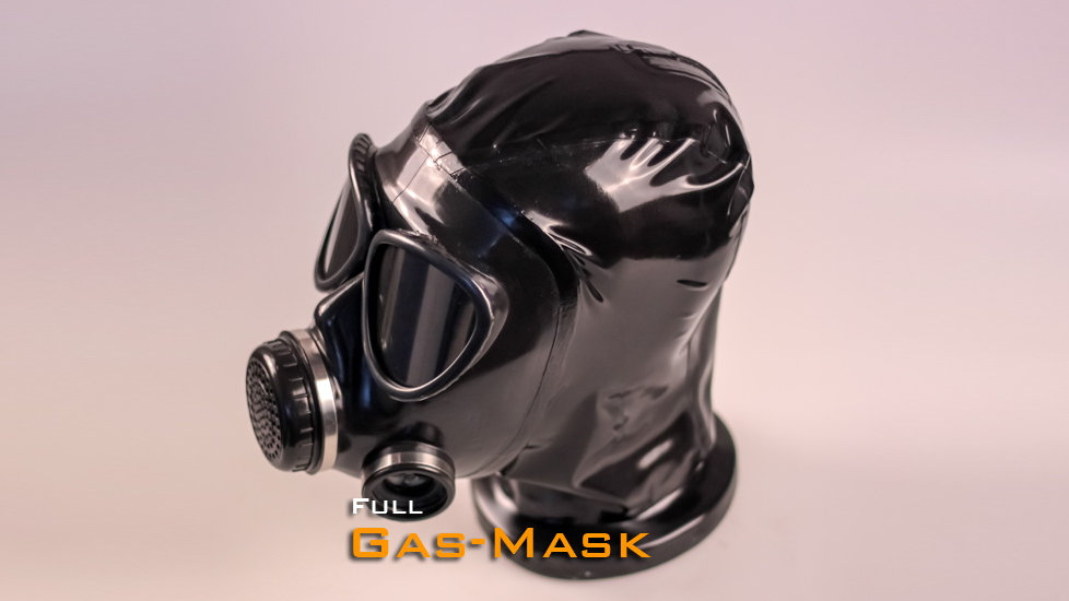 Latex Gas Mask Hood FMJ05 with Zipper