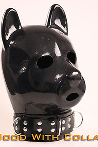 Latex Dog&Puppy Hood with Collar