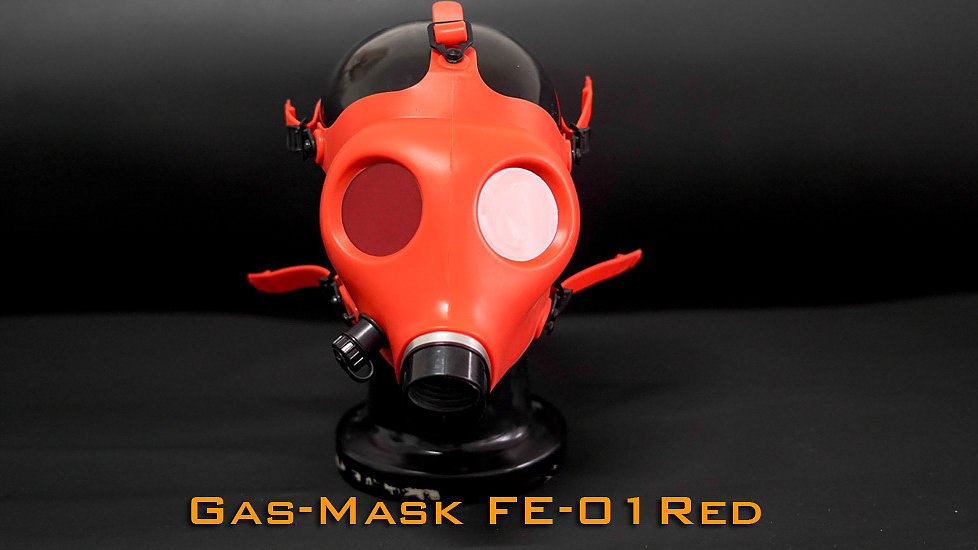 Rubber Gas Mask & Red