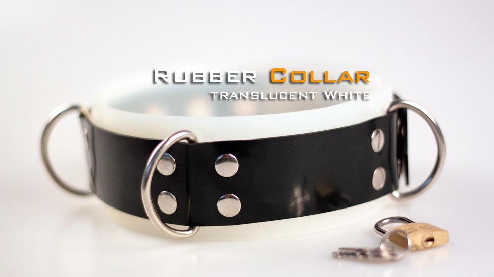 Rubber translucent White Neck Collar