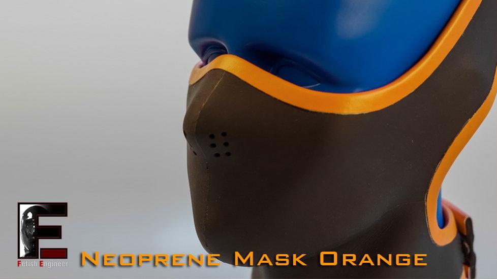 Half Face Neoprene Face Mask-Orange