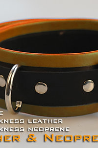 Orange Collar-neoprene & leather