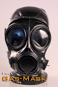 Latex Gas Mask Hood FMJ08 with Zipper and Pipette inside