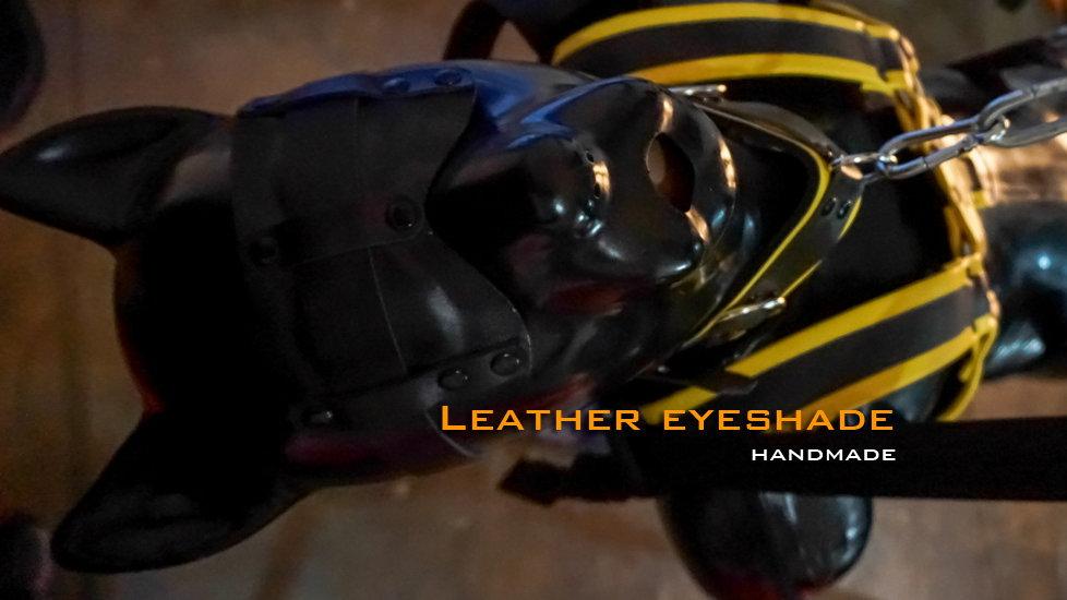 Leather eyeshade
