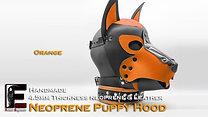 Orange-Neoprene Dog Mask/Puppy Hood