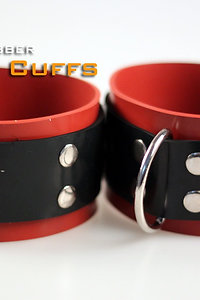 Red Ankle Cuffs-Rubber