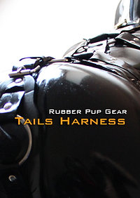 Rubber dog tail harness