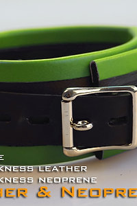 Green Collar-neoprene & leather