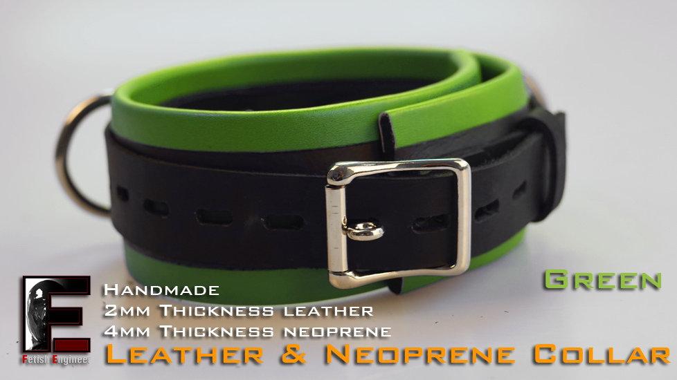 Green Collar-neoprene & leather