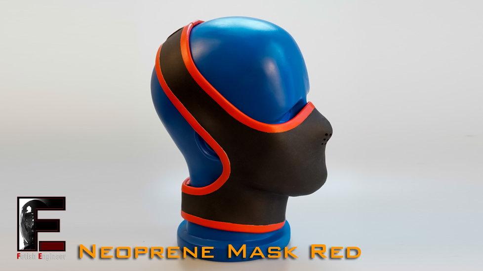 Half Face Neoprene Face Mask-Red