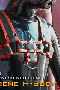neoprene-H body Harness Red