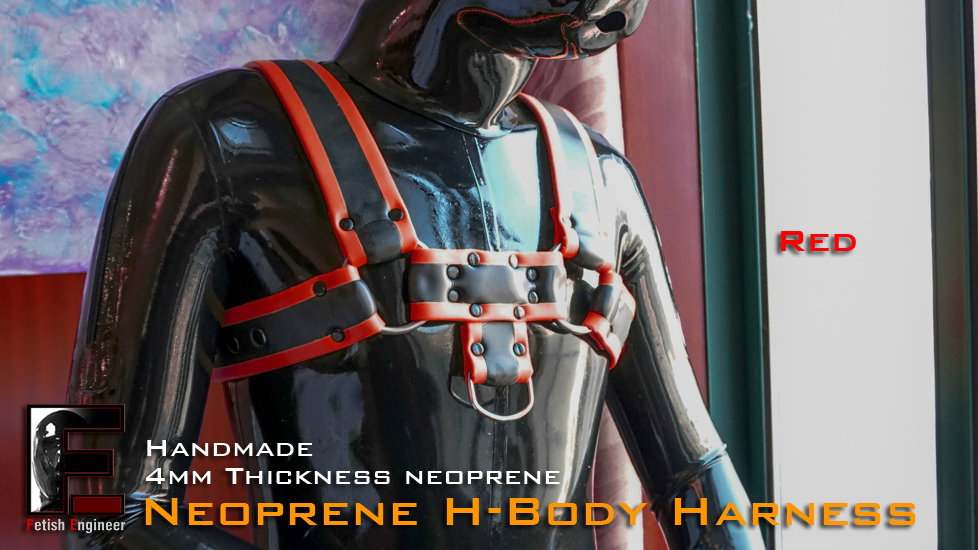 neoprene-H body Harness Red