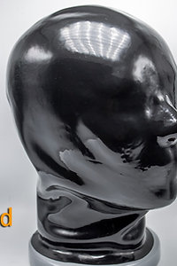 Latex Hood with zip Back-1.2mm