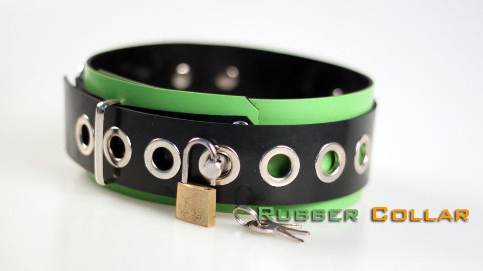 Rubber Green Neck Collar