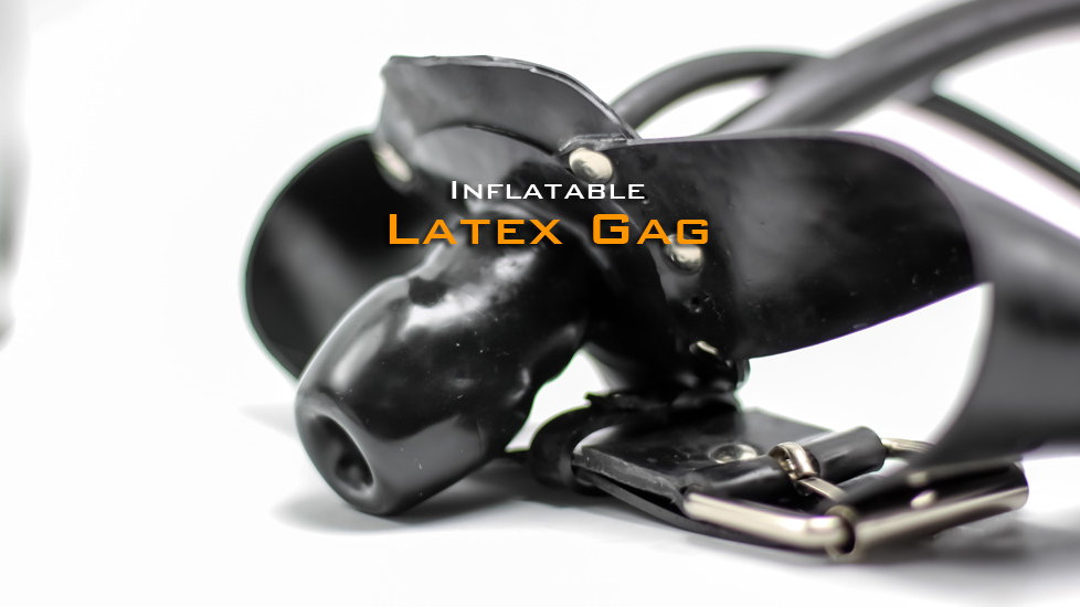 Latex Pump up Gag with Airway