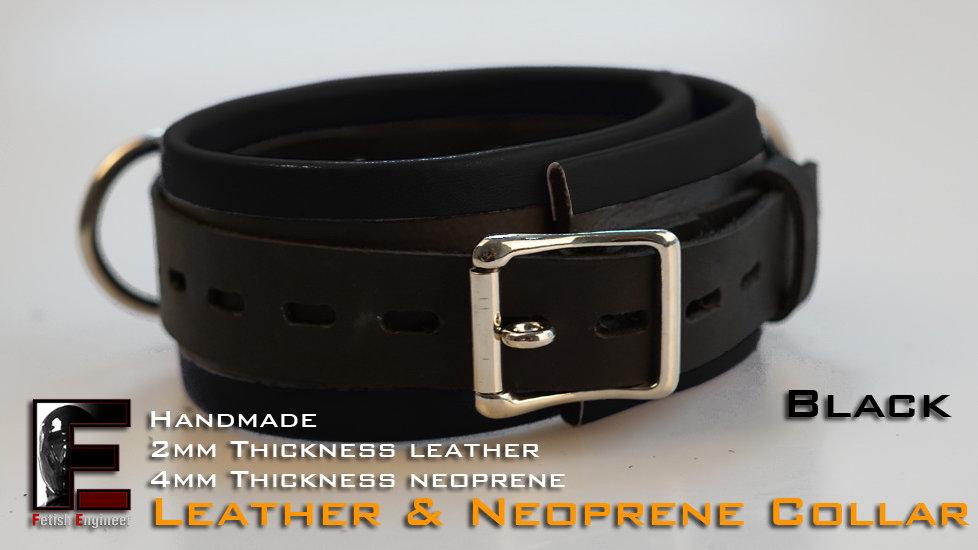 Black Collar-neoprene & leather