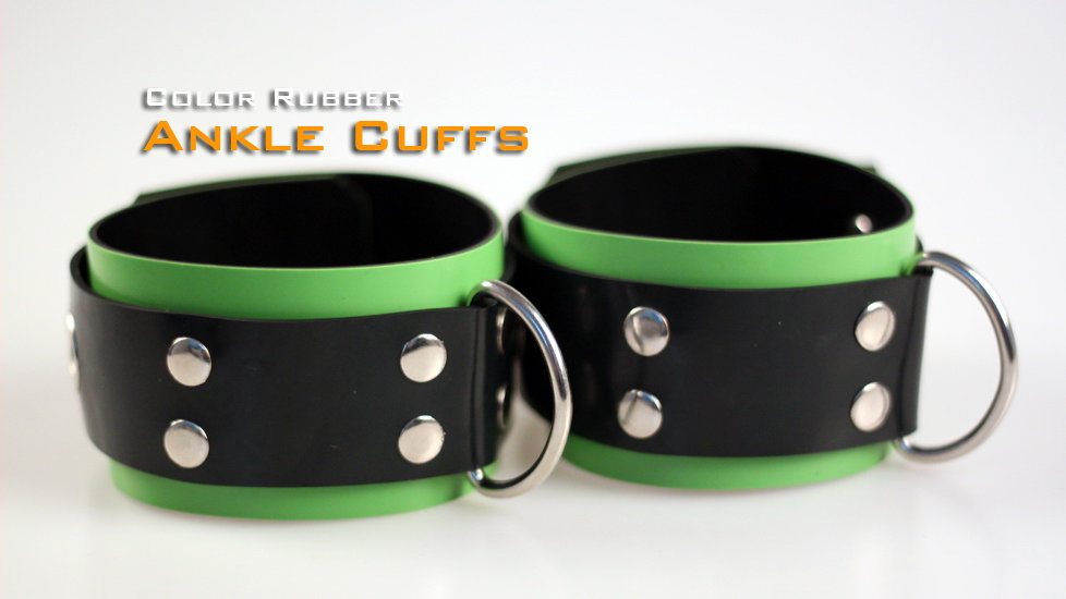 Green Ankle Cuffs-Rubber
