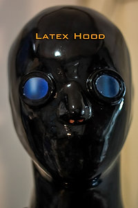 Latex Hood with Glasses and Zip Back