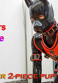 Full body rubber puppy harness - 2 piece