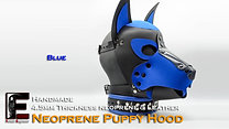 Blue-Neoprene Dog Mask/Puppy Hood