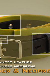 Yellow Collat - neoprene & leather