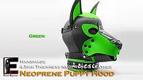 Green-Neoprene Dog Mask/Puppy Hood