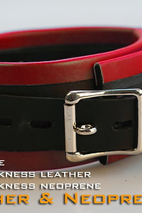 Red Collar-neoprene & leather