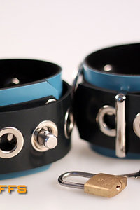 Rubber Blue Wrist Cuffs