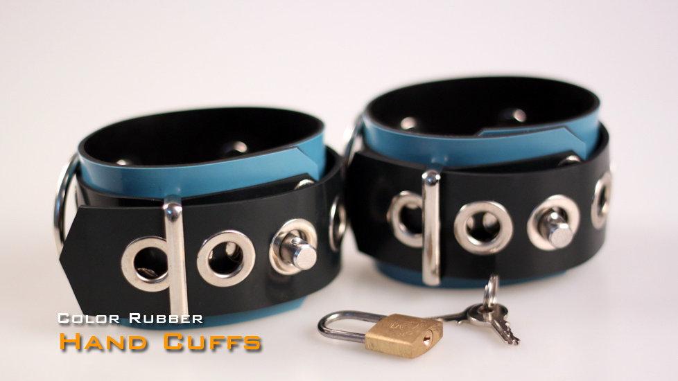 Rubber Blue Wrist Cuffs