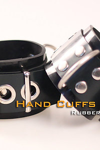 Rubber Black Wrist cuffs