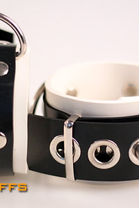 Rubber White Wrist Cuffs
