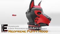 RED-Neoprene Dog Mask/Puppy Hood