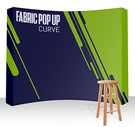 Fabric Pop Up -Curved