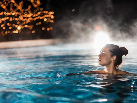 Pool heating system for year round swimming