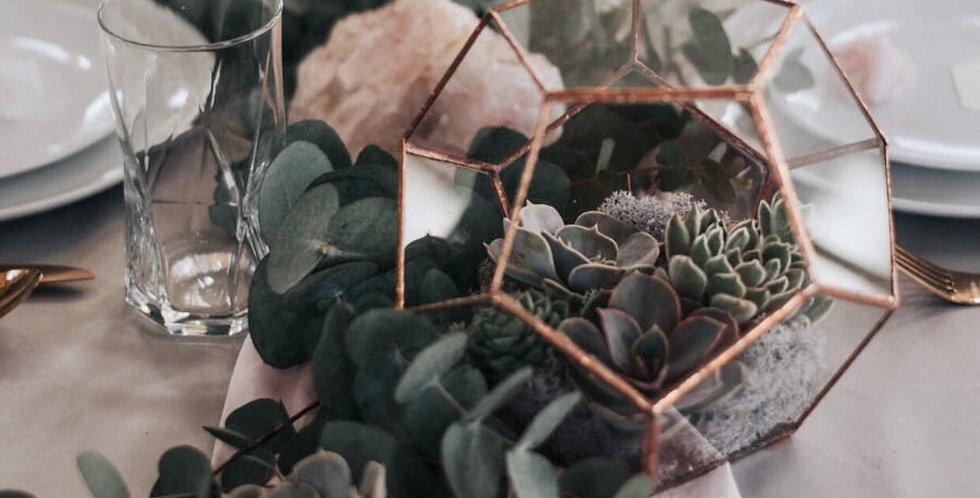 Golden Terrarium - Vase wedding centrepiece