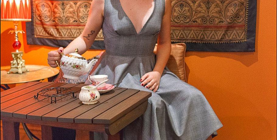 Sandrine | Circular Skirt Cocktail Dress