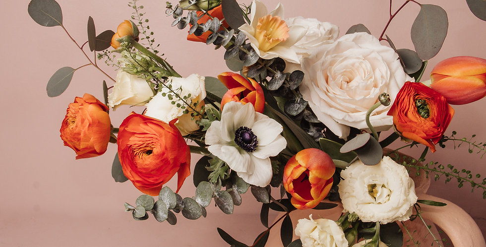 Peaches & Cream | Fresh Flower Bouquet