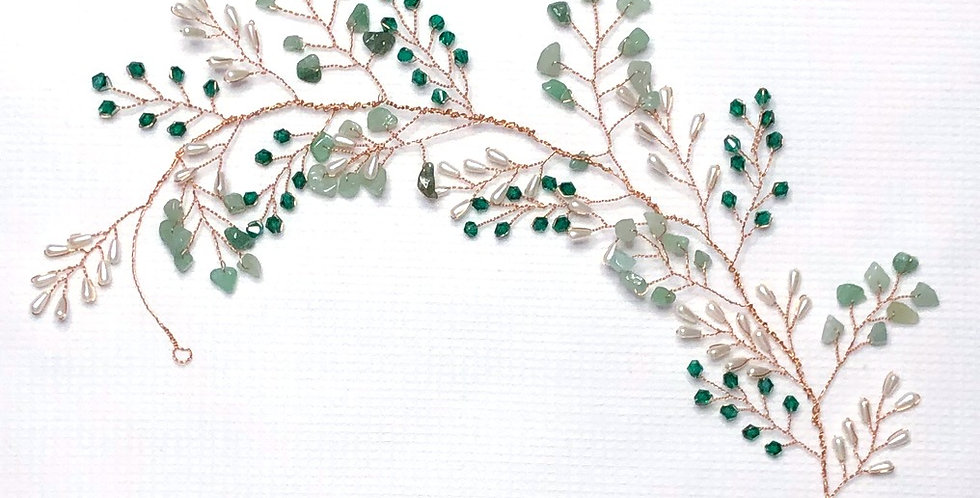 Emerald Bridal hair jewelry accessories - Handmade