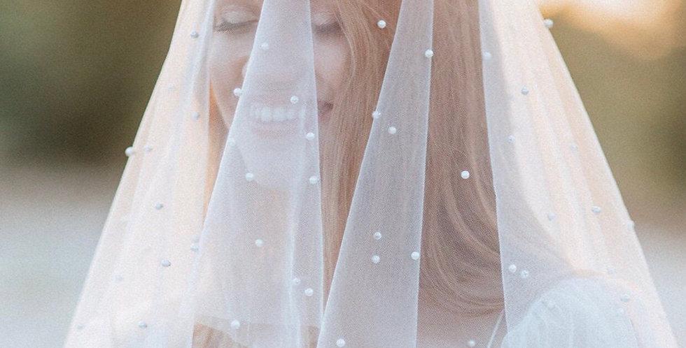 Handmade Pearl Beaded Veil