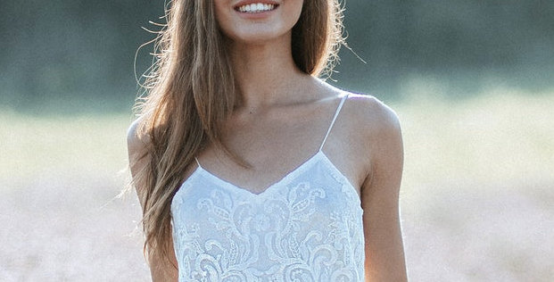 Lace Luxe Tank Top - Adjustable Strap - Bralette