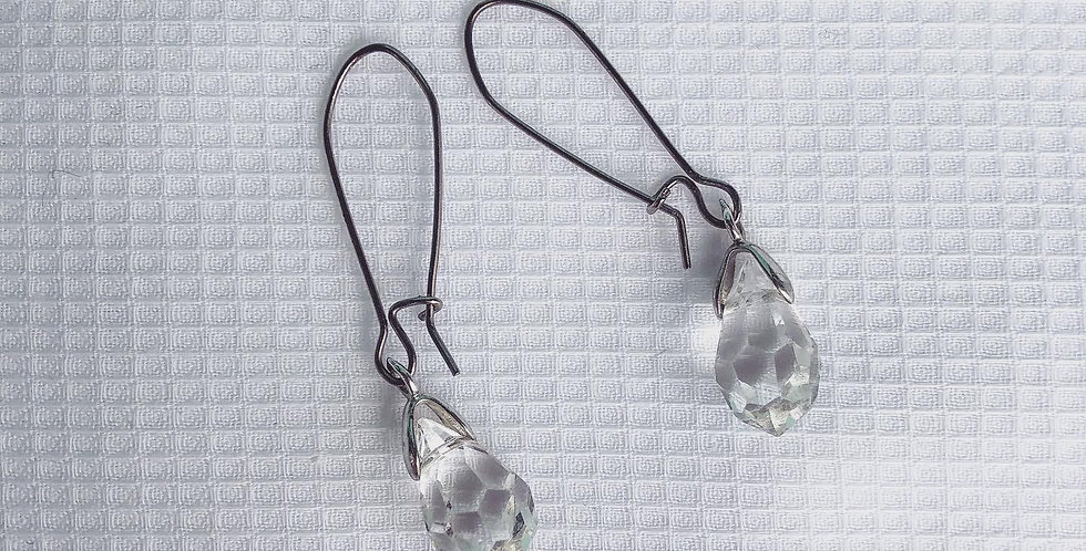 Minimalist Teardrop Swarovski Crystal Earing | Bridal Jewelry