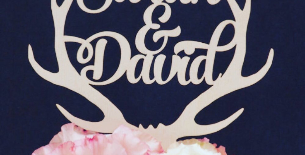 Wooden Cake Topper - Customizable