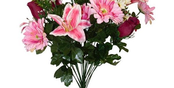 Lily Gerbera Marguerite Roses Bush