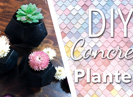 DIY Pentagone concrete planters | Concrete flowers vase |  Wedding Center Table