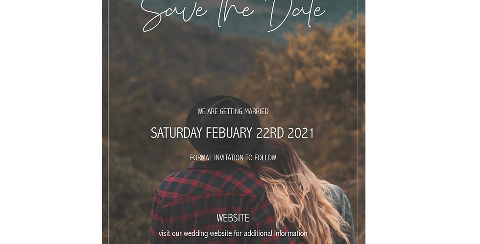 Minimalist Save The Date - Add your photo - English Version