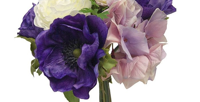 Ranunculus, Hydrangea and Anemone Bouquet
